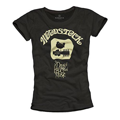 Camisetas Grupos de Musica Rock - Woodstock - Negra M