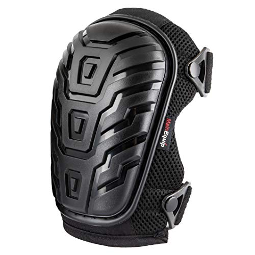MainEquip Professional Knee Pads with Heavy Duty Foam Padding and Comfortable Gel Cushion, Strong Double Straps and Adjustable Easy-Fix Clips