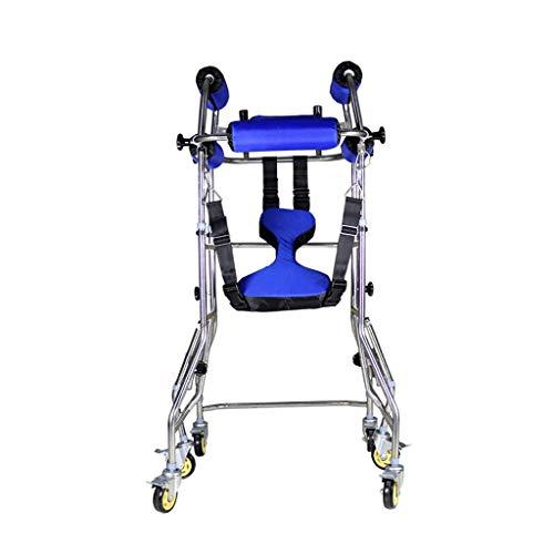 TF Medical Walker, Ausrüstung Für Die Hemiplegische Schlaganfallrehabilitation, Gehirninfarkt, Behinderte Untere Extremität, Training, Gehen, Stehen, Sechs-Wege-Walker Für Erwachsene (Color : Blue)
