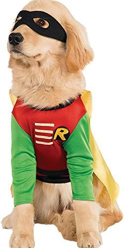 Disfraz Oficial de Rubie'S DC Comic Robin Teen Titans para Mascotas, Regalo de superhéroe, Talla XL