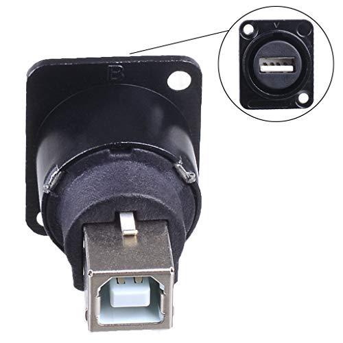 Catyrre Metall-Buchse Typ USB B auf USB A Buchse Buchse Panel Mount Adapter