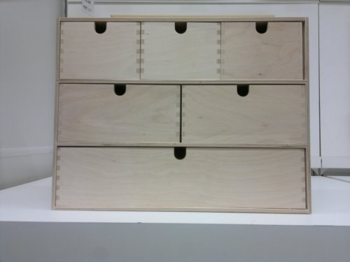Ikea MOPPE - Mini cajonera, contrachapado de Abedul - 42x18x32 cm