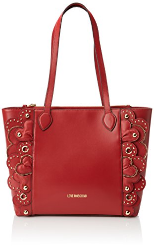 Love Moschino Borsa Vitello Smooth Rosso, Cabas femme, Rouge (Red), 10x28x42 cm (B x H T)
