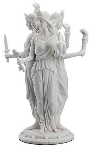 Hécate Diosa griega de magia y Brujería Escultura Estatua blanco acabado