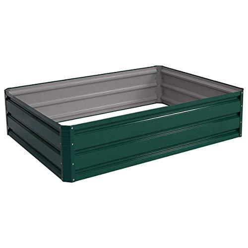 """Giantex Dark Green 47.5""""x35.5"""" Patio Raised Garden Bed Vegetable Flower Plant Dark Green(47.5""""x35.5"""")"""