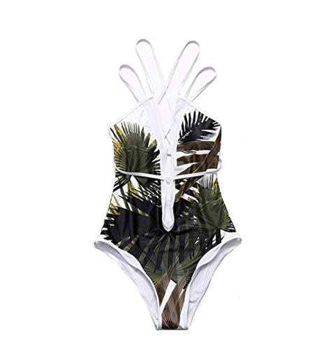 Andouy Monokini Badeanzug für Frauen Criss Cross Badeanzüge Bauchkontrolle Cutout Badebekleidung Jumpsuit(M.Gelb)