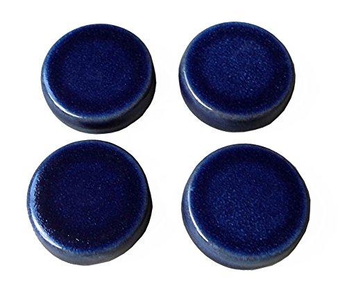 Hentschke Keramik Füsschen für Pflanzkübel/Pflanztopf 4 Stück Ø 5 cm, Effekt blau, 004.048.64 Made in Germany