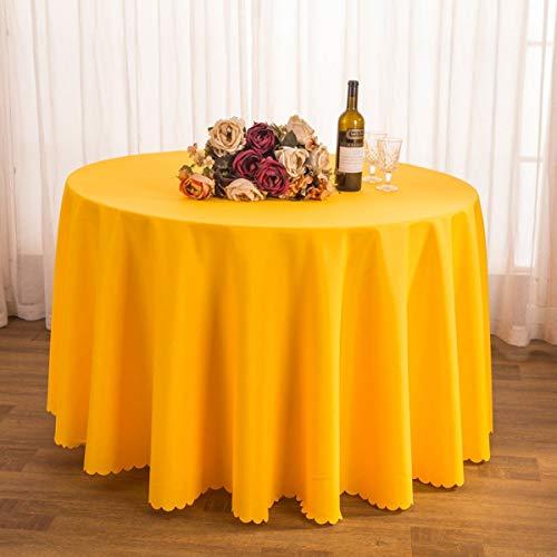GCXZB Mantel Tela té té Manteca Hotel Restaurante poliéster Mantel de Conferencia Tabla Falda Jacquard Redondo Mantel Resistente al Aceite fáciles de Limpiar (Color: k, tamaño: 260 cm)
