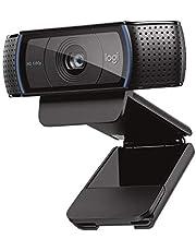 羅技 網絡攝像頭 C920n 黑色 全高清 1080P 網絡攝像頭 流明 自動對焦 立體聲麥克風 國內正品 黑色