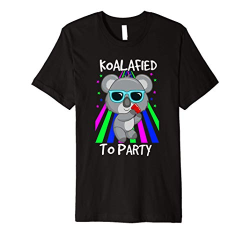 Koalified To Party Funny Koala Bear Pun T Shirt