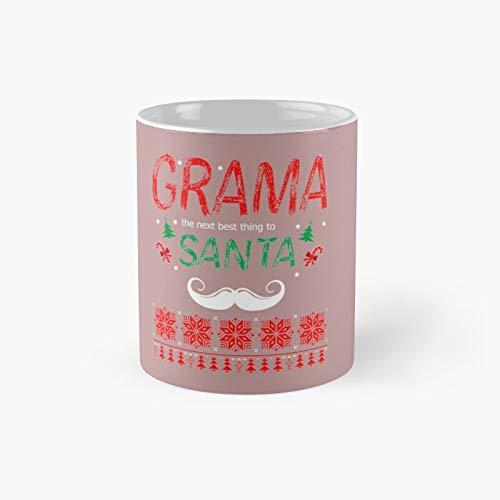 Taza clásica de Grama The Next Best Thing to Santa   Tazas de café divertidas de 325 ml