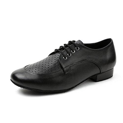 MINITOO Herren Tanzschuhe Standard Atmungsaktiv Schwarz Lede Latein Schuhe TH250501 EU 42.5