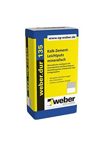 Weber.dur 135 Kalk-Zement-Leichtputz 30 kg Kalkzementleichtputz Leichtputz Kalkzement Putz Weber.dur Zement Putz