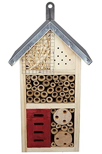 CULT at home Insektenhotel - für Wildbienen Maikäfer Schmetterlinge - Höhe 26 cm