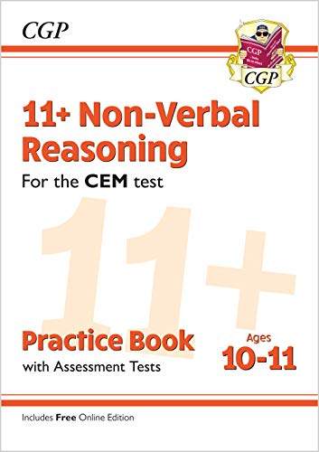 11+ CEM Non-Verbal Reasoning Practice Book & Assessment Tests - Ages 10-11 (with Online Edition) (CGP 11+ CEM)