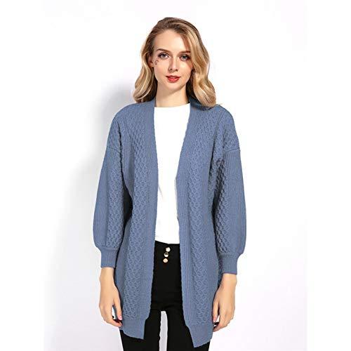 YUPERKNI vrouwen breien herfst winter dikke oversized lange vest Twist patroon open steek trui jas