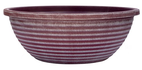 Classic Home and Garden 615D-381PB Sante 17' Santa Fe Bowl, Frosted Merlot