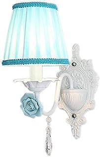 الإضاءة الزخرفية Modern personality, creative retro wall lamp, wall lamp bedroom bedside garden princess bed children's ro...