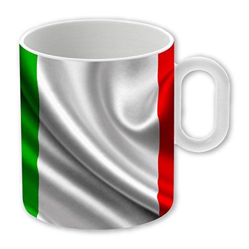 My Custom Style Tazza Magica in Ceramica Personalizzabile da 325ml Modello Bandiera Italia - 1 Tazza