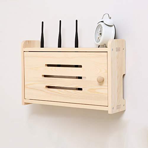ZPWSNH Opbergbox, socket, afwerking, box, houder, wifi-router, tv-box, floating-rek, kabel, netstekker, draad, set-topbox, tv-standaard aan de muur