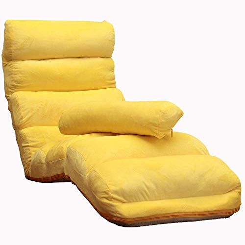 Relaxbx Opvouwbare gevoerde stoel multifunctionele opvouwbare sofa gemakkelijk te verwijderen en te wassen 5-traps verstelbaar loungestoel slaapkamerbalkon meerkleurig optioneel (kleur: bruin)