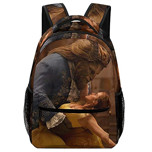 Beauty Beast Mochila para niños de gran capacidad, tela Oxford impermeable y duradera, cómoda para viajes escolares, picnic, camping