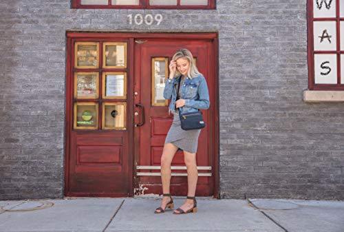Travelon Women's Anti-Theft Heritage Small Crossbody, Indigo, 10.5 x 7 x 2