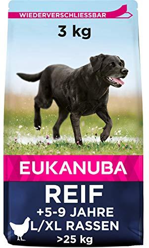 Eukanuba Mature Trockenfutter für reife große Hunde mit frischem Huhn, 3kg