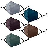 Eco Right Mascarillas Reutilizables De Tela | Mascarillas de Tela Ajustables con 3 Capas | Elástico De Primera Calidad | Ajuste Perfecto | Multicolor