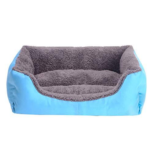 Huisdier Grote Hond Bed Warm Hond Huis Zachte Nest Hond Manden Waterdichte Kennel voor Kat Puppy Plus Size, XL80x65x17cm, Blauw