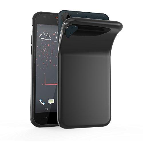 Cadorabo Hülle für HTC Desire 10 Lifestyle/Desire 825 - Hülle in SCHWARZ – Handyhülle aus TPU Silikon im Ultra Slim 'AIR' Design - Silikonhülle Schutzhülle Soft Back Cover Case Bumper