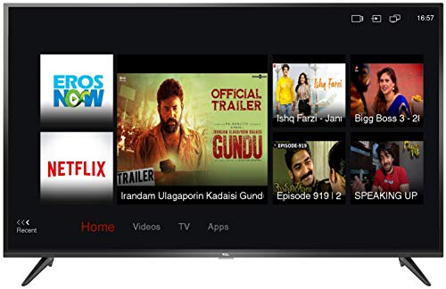 TCL 138.71 cm (55 inches) 4K Ultra HD Smart LED TV 55P65US-2019 (Black) | Built-In Alexa