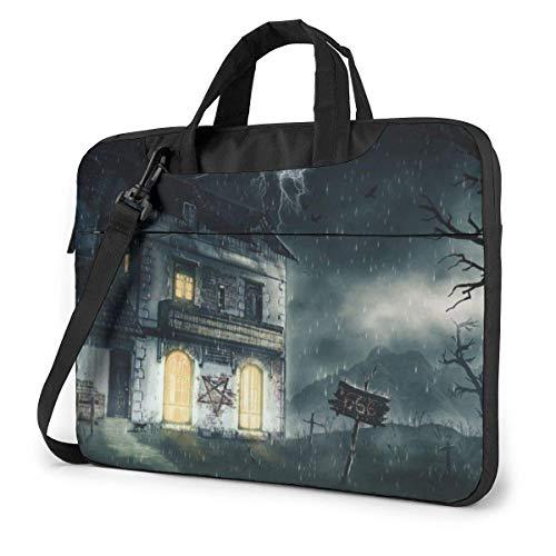 DJNGN Laptop Shoulder Bag 15.6 Inch, Ligthning Tower Briefcase Bag