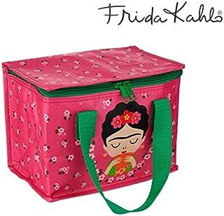 LORVIES Frida Kahlo Borsa a tracolla per computer portatile da 14 a 15,4 con fiori rosa