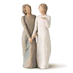 """Sentiment: """"Walk with me. And along the way, we'll share… everything"""" written on Enclosure Card 8.5""""h hand-painted resin figure. Ready to display on a shelf, table or mantel. To clean, dust with soft brush or cloth. A gift to celebrate supportive fri..."""