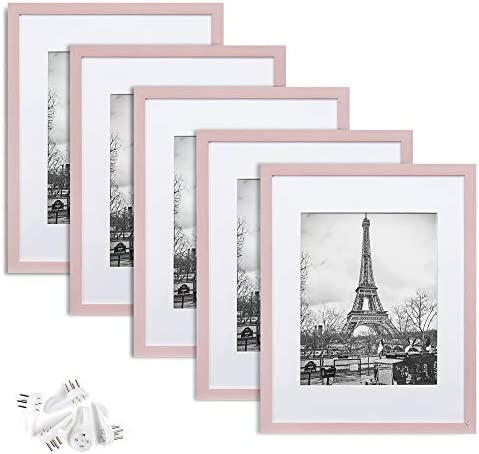 upsimples 11x14 Picture Frame Set of 5 Display Pictures 8x10 with Mat or 11x14 Without Mat Wall product image