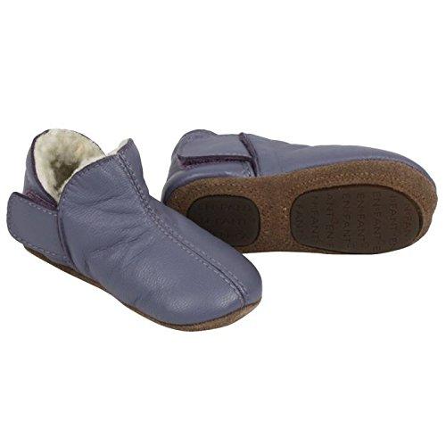 En Fant - Pantuflas forradas (talla 19), color morado
