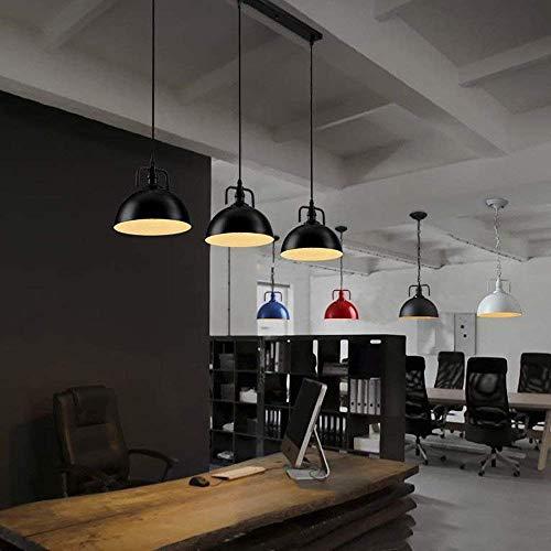 DEJ Hanglamp Dome Vorm 3 Licht Multi Licht in Zwart Finish Industriële Vintage Metalen Plafondlamp Fixture