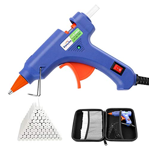 Hot Glue Gun, Dweyka 20W Mini Glue Gun with 75pcs Glue Sticks, High Temp Hot Melt Glue Gun with ON-Off Switch for DIY School Craft Projects, Home Quick Repairs, Festival Decoration
