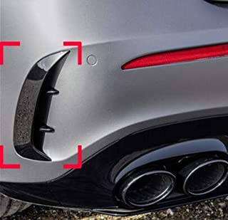 NO LOGO 1pair for Mercedes-Benz Clase A W177 A180 A200 A250 A35 2019+ Fibra de Carbono Parachoques Trasero del Ajuste Spoiler Pegatinas Fender Canards