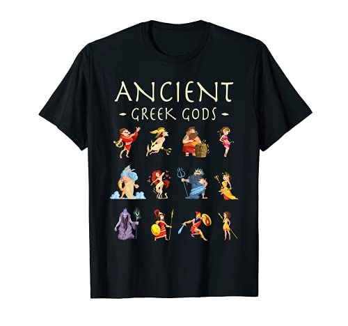 Ancient Greek Gods And Goddesses Zeus Apollo Greek Mythology T-Shirt