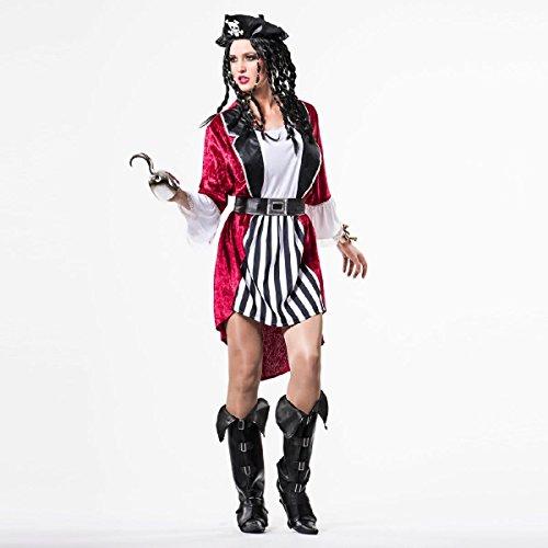 Disfraz de Pirata a Rayas para mujer