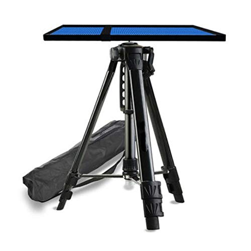 ERTYU Projector Tripod Stand Foldable, Multi-function Stand Adjustable Height 17' to 47' Tripod Laptop Projector Stand, Aluminum Heavy Duty Projector Stand with Tray Black