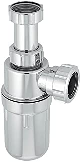 McAlpine A10AR-CP Chrome Plated Plastic Resealing Adjustable Inlet Bottle Trap-1.25 inch