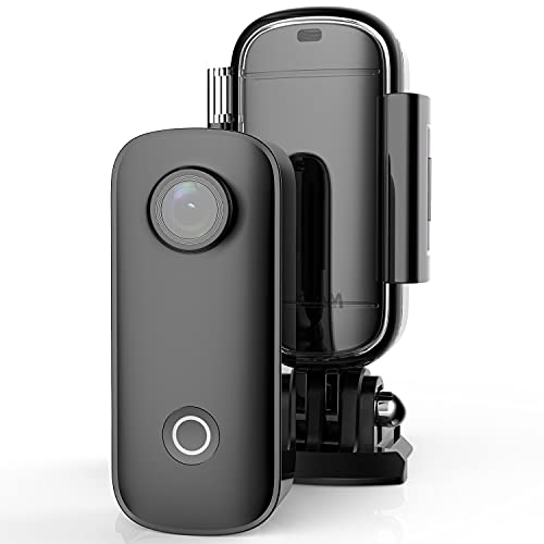 SJCAM C100+ 4K 30FPS Mini Action Camera 30M Underwater Small Camera 15MP WiFi Streaming Webcam Pocket Cameras for Travel…