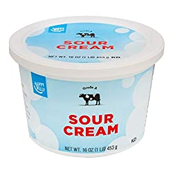 Amazon Brand - Happy Belly Sour Cream, Kosher, 16 Ounces
