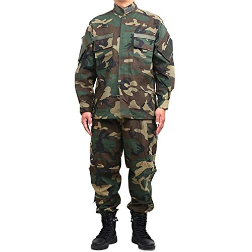 YZRDY For Hombre Uniforme Militar táctico Ropa de Combate del Escudo de Fuerzas Especiales del Ejército de Camuflaje Soldado Militar + Pant Set Combat (Color : Color5, Size : S.)