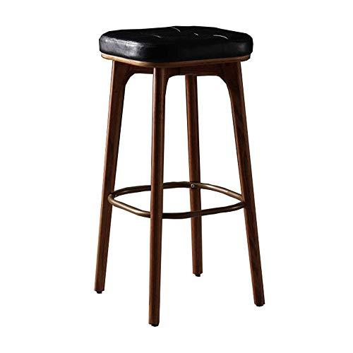 QIAOJUNJUN barkruk massief hout ronde hoge kruk bar meubels keuken stoel Pu kussen lagergewicht 200kg stoel hoogte 79cm