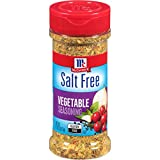 McCormick Salt Free Vegetable Seasoning has no salt or MSG added* Blend of onion, garlic, tomato, red bell pepper and McCormick herbs & spices Adds hearty flavor to meals with lower levels of sodium Great on vegetables, salads, chicken, fish, eggs, r...