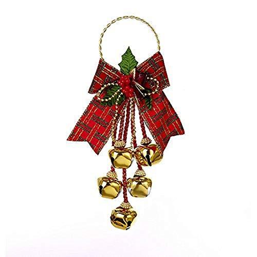 Kurt Adler Jingle Bell Door Hanger with Bow J5025 New